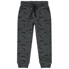 Pantalon de jogging en molleton à logos Batman all-over