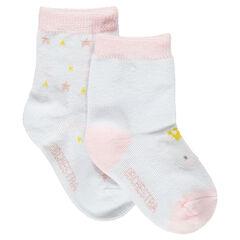 Σετ 2 ζευγάρια ασορτί κάλτσες με ζακάρ μοτίβο κοάλα και ζακάρ αστέρια