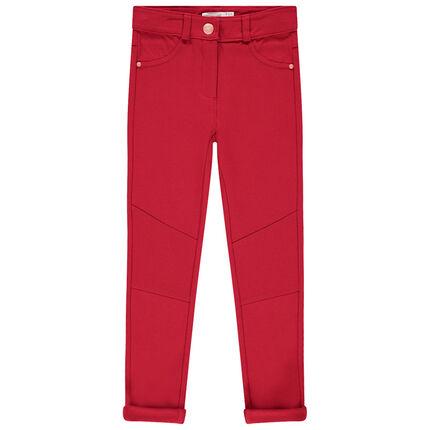 Μονόχρωμο παντελόνι με ελαστική ύφανση milano