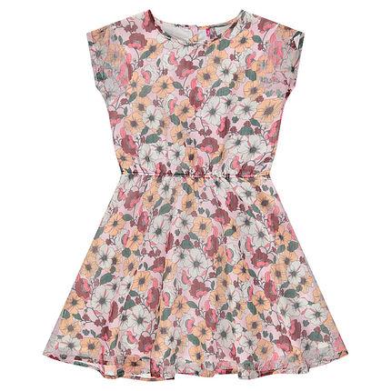 Παιδικά - Φόρεμα φλοράλ με λεπτή ύφανση