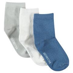 Lot de 3 paires de chaussettes unies assorties