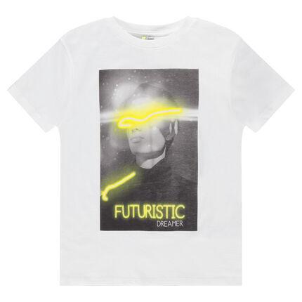 Παιδικά - Κοντομάνικη μπλούζα ζέρσεϊ με τυπωμένη φωτογραφία