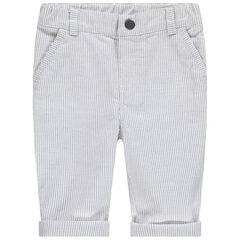 Παντελόνι με λεπτές ρίγες.