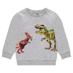 Φανελένιο φούτερ με τυπωμένους δεινόσαυρους