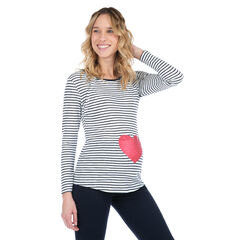 Μακρυμάνικη μπλούζα για το σπίτι με στάμπα καρδιά
