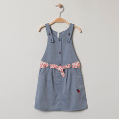 Αμάνικο φόρεμα με ζώνη  εμπριμέ floral