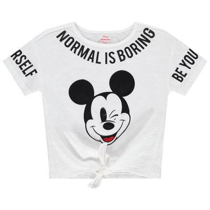 Κοντομάνικη μπλούζα με τυπωμένες φράσεις και τον Mickey της Disney