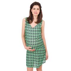 Εμπριμέ φόρεμα εγκυμοσύνης με γεωμετρικά σχέδια