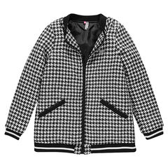 Παιδικά - Φαρδύ παλτό ζακάρ τουίντ