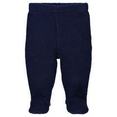 Παντελόνι με πυκνή πλέξη και κλειστό ποδαράκι