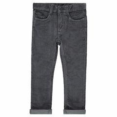 Παντελόνι από βελούδο κοτλέ σε γκρι χρώμα