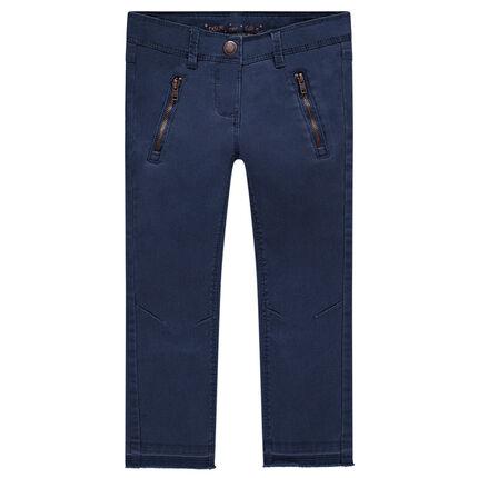 Μονόχρωμο παντελόνι σε γραμμή skinny από τουίλ ύφασμα