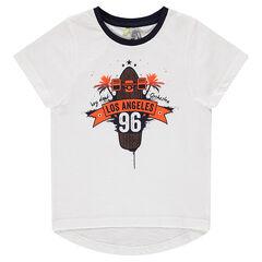 """Κοντομάνικη μπλούζα με τυπωμένο μήνυμα """"Los Angeles"""""""
