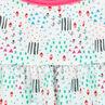 Robe maillot imprimée fantaisie style graphique