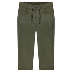 Μονόχρωμο παντελόνι από τουίλ ύφασμα
