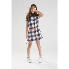 Φόρεμα σε στιλ πουκαμίσας καρό με αφαιρούμενη ζώνη