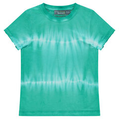 Κοντομάνικη μπλούζα από ζέρσεϊ με ξεβαμμένη όψη