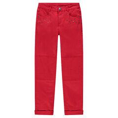 Παιδικά - Κόκκινο παντελόνι από τουίλ σε γραμμή slim