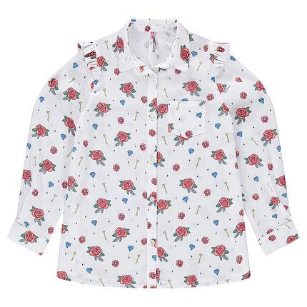 Παιδικά - Μακρυμάνικο πουκάμισο με εμπριμέ μοτίβο
