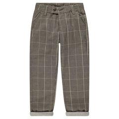Βαμβακερό παντελόνι με μοτίβο πρενς-ντε-γκαλ
