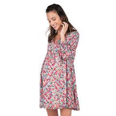 Μακρυμάνικο φόρεμα εγκυμοσύνης με μοτίβο με λουλούδια