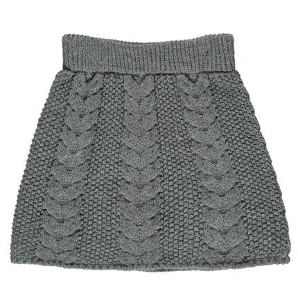 Πλεκτή φούστα με πλεξούδες