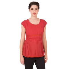Κοντομάνικο μπλουζάκι εγκυμοσύνης με δαντέλα