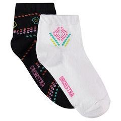 Σετ με 2 ζευγάρια κάλτσες σε έθνικ στυλ