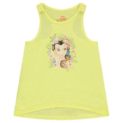 Αμάνικη βαμβακερή μπλούζα με στάμπα την Μπελ της ©Disney