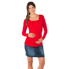 Tee-shirt d'allaitement manches longues uni