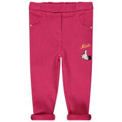 Ροζ κολάν με κέντημα τη Μίνι της Disney
