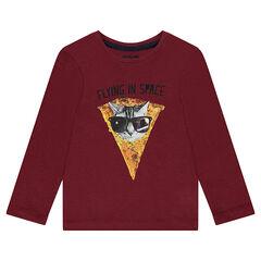 Παιδικά - Μακρυμάνικη μπλούζα με φαντεζί στάμπα