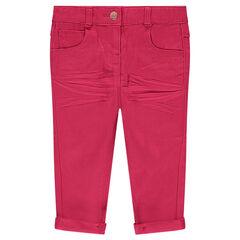 Παντελόνι σε γραμμή slim με τσαλακωμένη όψη