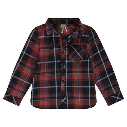 Μακρυμάνικο πουκάμισο με μεγάλα καρό και τσέπη