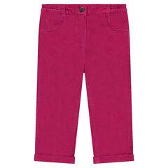 Παντελόνι από βελούδο σε ίσια γραμμή με κέντημα στις τσέπες