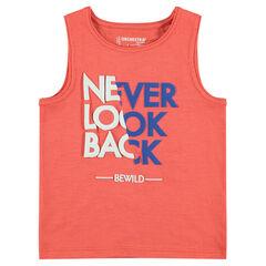 Ζέρσεϊ αμάνικο μπλουζάκι με φαντεζί τύπωμα