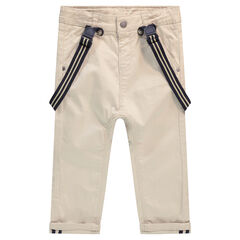 Παντελόνι από βαμβάκι με αφαιρούμενες ελαστικές τιράντες
