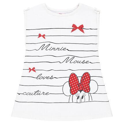 Κοντομάνικη μπλούζα ριγέ με στάμπα Minnie της Disney
