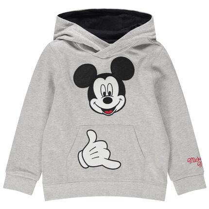 Φανελένιο φούτερ με κέντημα Μίκυ της Disney