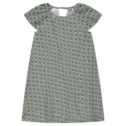 Παιδικά - Κρεπ φόρεμα με εμπριμέ μοτίβο
