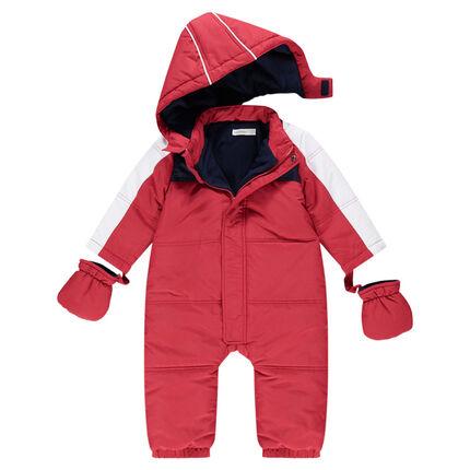 Ολόσωμο αδιάβροχο μπουφάν σκι σε κόκκινο χρώμα, με φλις επένδυση