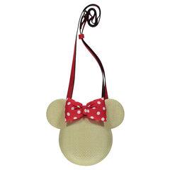 Τσάντα τύπου ψάθινης με Minnie της Disney με ρυθμιζόμενο λουράκι