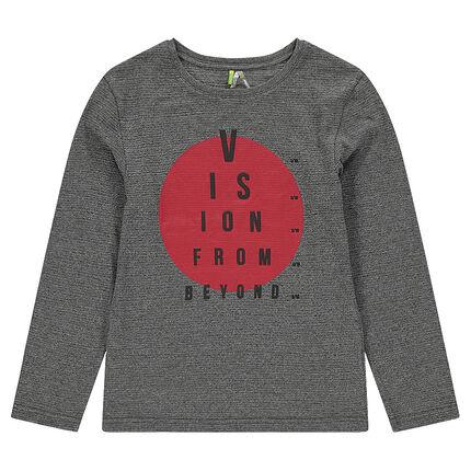 Παιδικά - Μακρυμάνικη μπλούζα ζέρσεϊ με τυπωμένο κύκλο