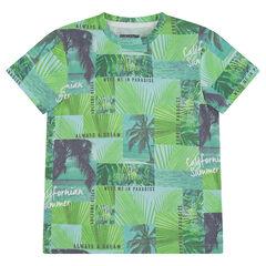 Παιδικά - Κοντομάνικη μπλούζα από ζέρσεϊ με μοτίβο φοίνικες