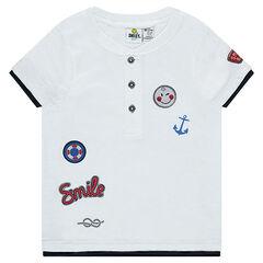 Κοντομάνικη μπλούζα από ζέρσεϊ με σήματα ©Smiley