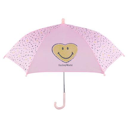 Ροζ ομπρέλα ©Smiley με πουά