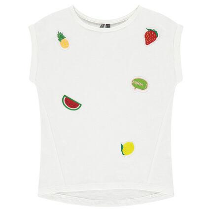 Κοντομάνικη μπλούζα ζέρσεϊ με μπαλώματα