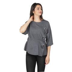 Ασύμμετρη μπλούζα εγκυμοσύνης με φιόγκους