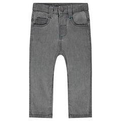 Φανελένιο παντελόνι σε στιλ ντένιμ