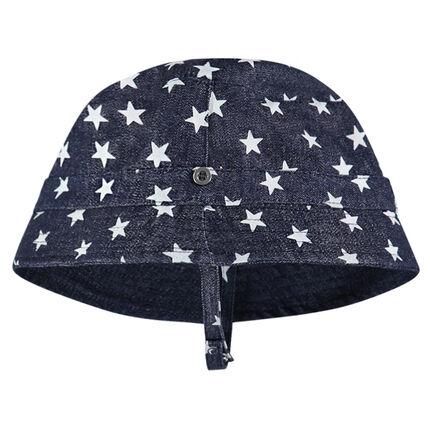 Ντένιμ καπελάκι με μοτίβο αστέρια